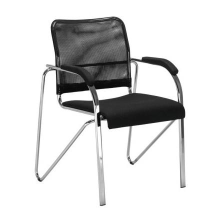 Посетителски стол - Samba Net черен
