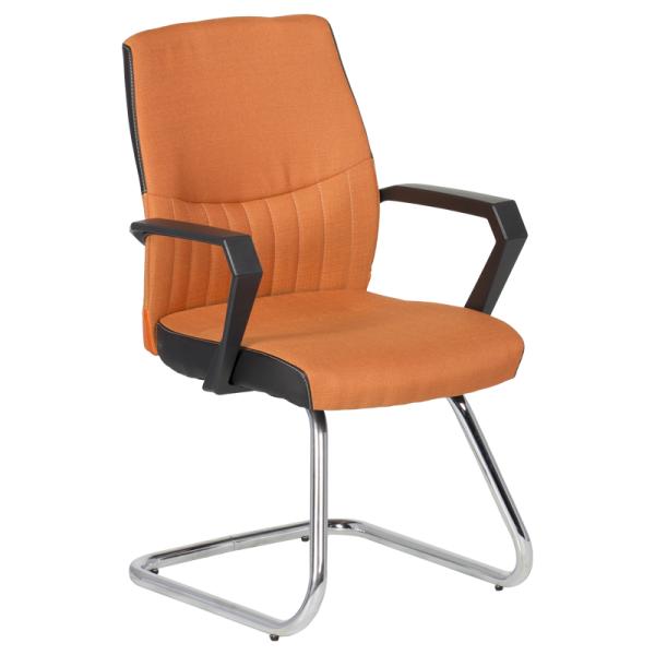 Посетителски стол - 6007 оранжев