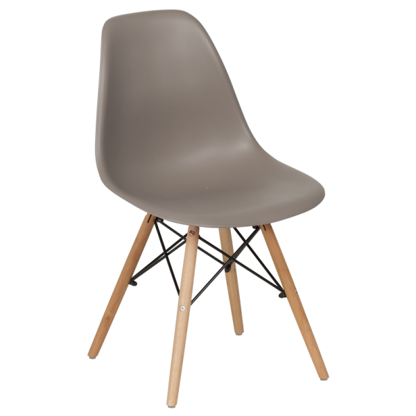 Трапезен стол-9957 светло кафяв