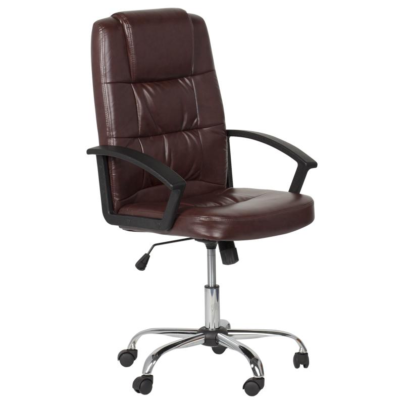 Директорски стол - 6076 искрящо кафяв