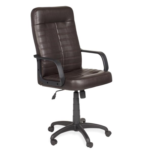 Директорски стол Ledli - тъмно кафяв