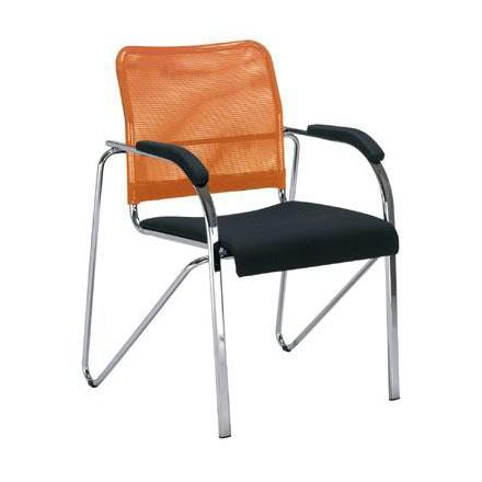 Посетителски стол - Samba Net оранжев
