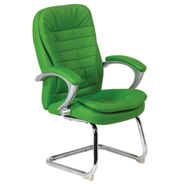 Посетителски стол - 6054 зелен