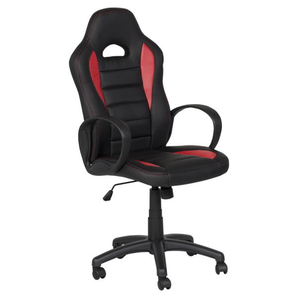 Директорски стол - 7501 черен/червен