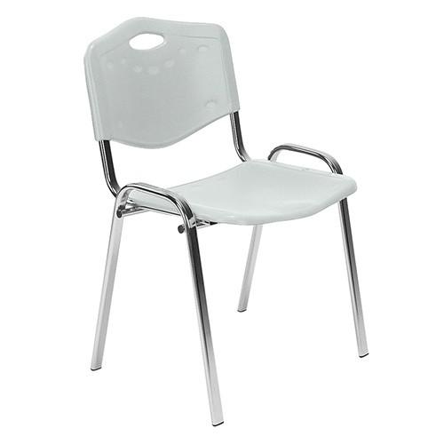 Посетителски стол Iso Plastic Chrome - сив
