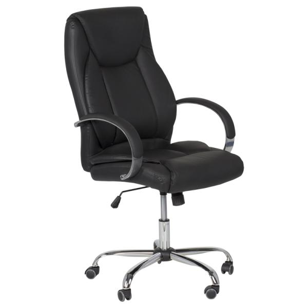 Директорски стол - 6501 черен LUX