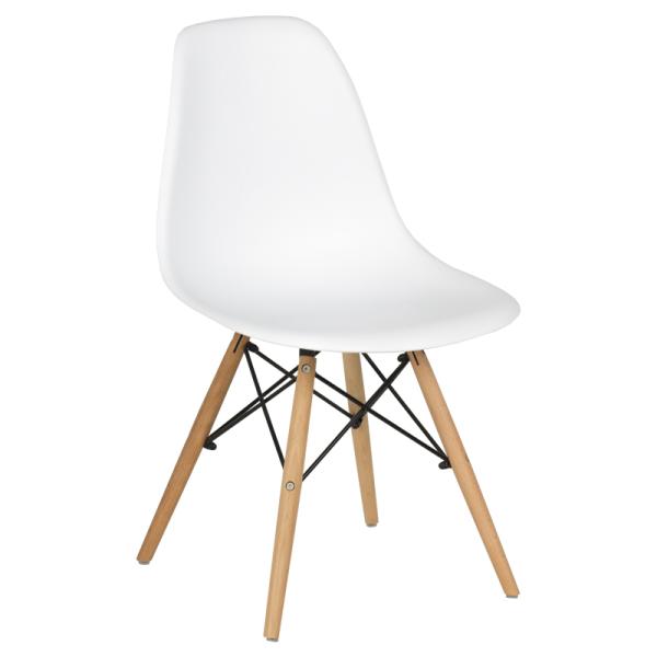 Трапезен стол-9957 бял