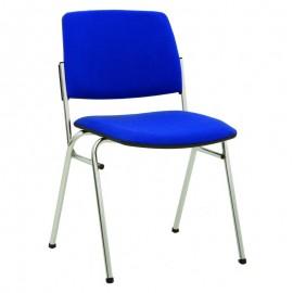 Посетителски стол Isit Chrome - син