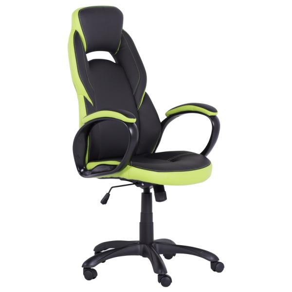 Директорски стол - 7511 черен/зелен