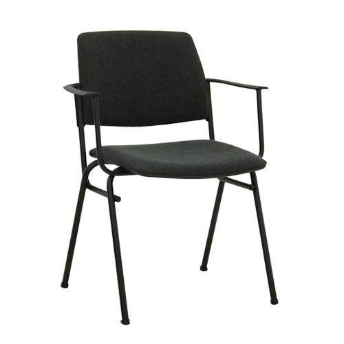 Посетителски стол Isit Arm Black - сив