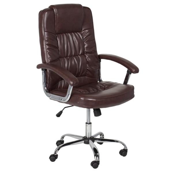 Директорски стол - 6081 искрящо кафяв