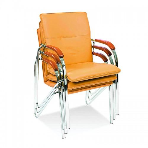 Посетителски стол - Samba тъмно бежов