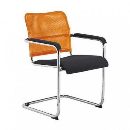 Посетителски стол - Rumba Net оранжев