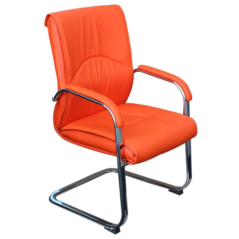 Посетителски стол - 6040 оранжев