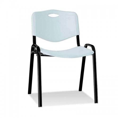 Посетителски стол Iso Plastic Black - мръсно сив
