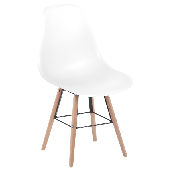 Трапезен стол - 9957 S бял