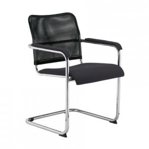 Посетителски стол - Rumba Net черен