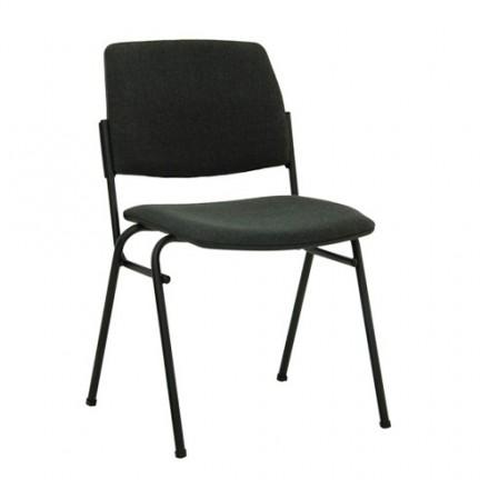 Посетителски стол Isit Black - сив