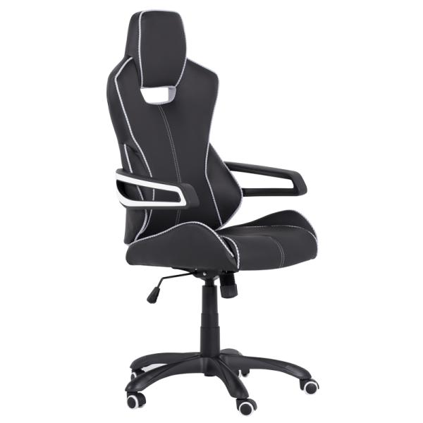 Директорски стол - 7513 черен/бял