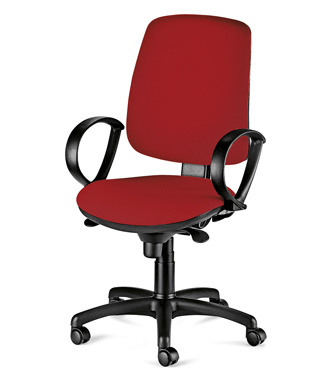 Работен стол - Атеа червен