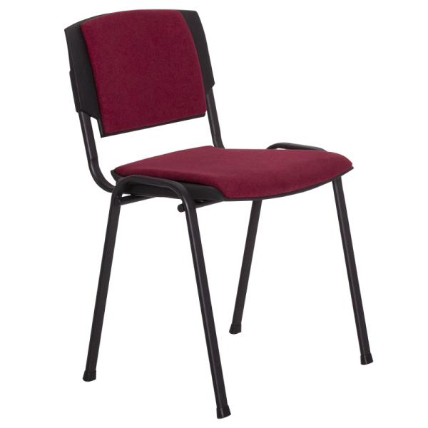 Посетителски стол - Prizma Lux бордо