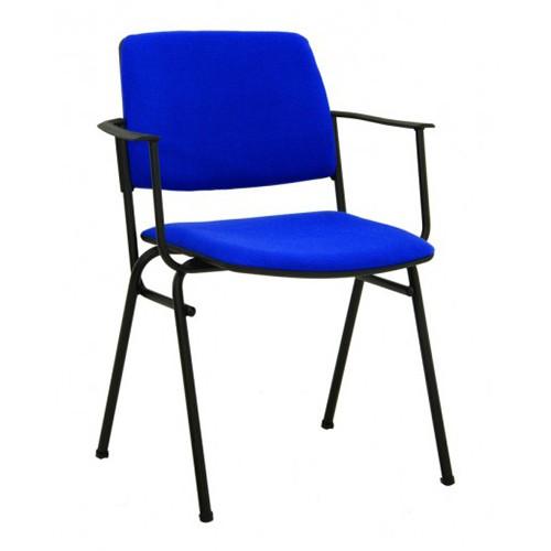Посетителски стол Isit Arm Black - син