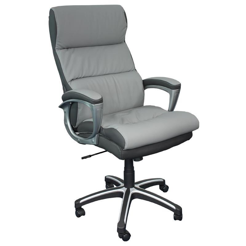 Директорски стол 5006 -  тъмно сив/светло сив