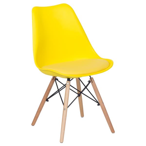 Трапезен стол-9960 жълт