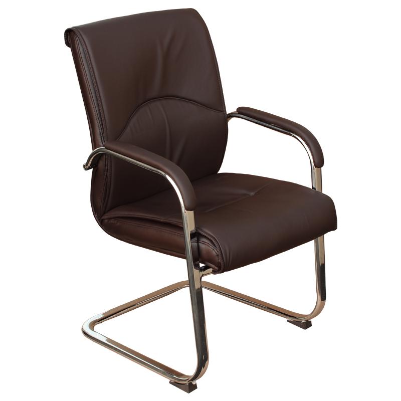 Посетителски стол - 6040 кафяв