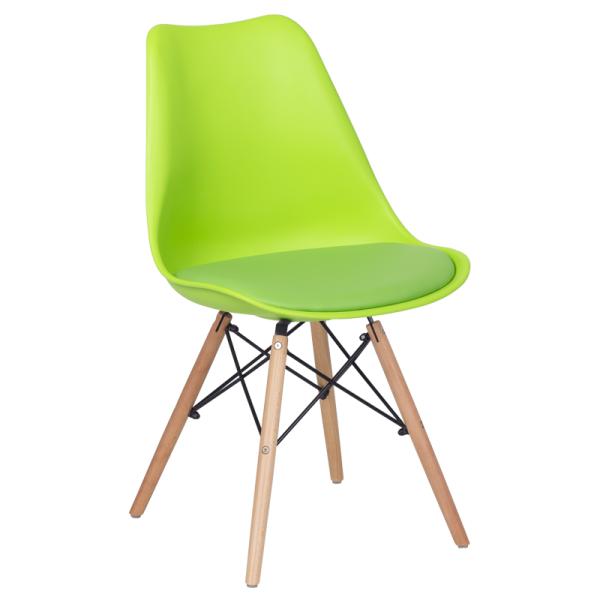 Трапезен стол-9960 ярко зелен