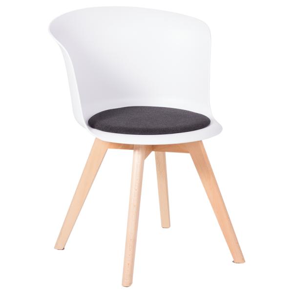 Трапезен стол-9968 бял