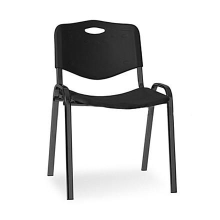 Посетителски стол Iso Plastic Black - черен