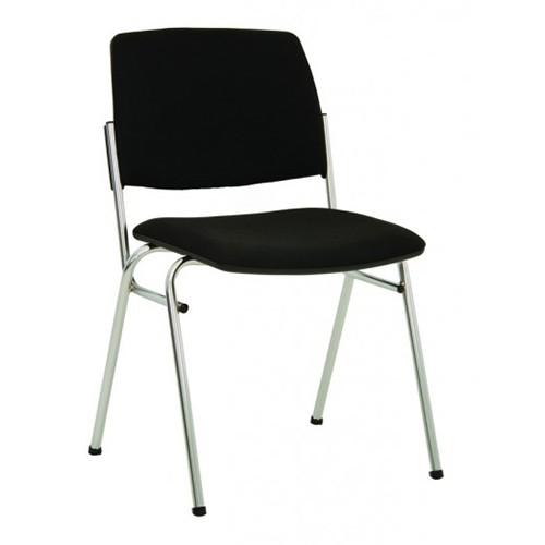 Посетителски стол Isit Chrome - черен