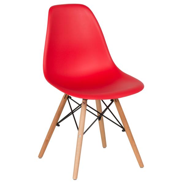 Трапезен стол-9957 червен