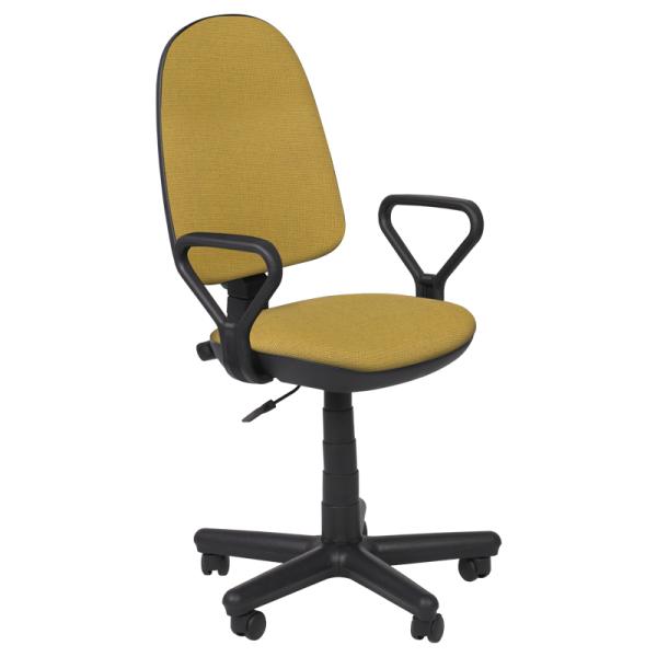 Работен стол - Comfort жълто-черен