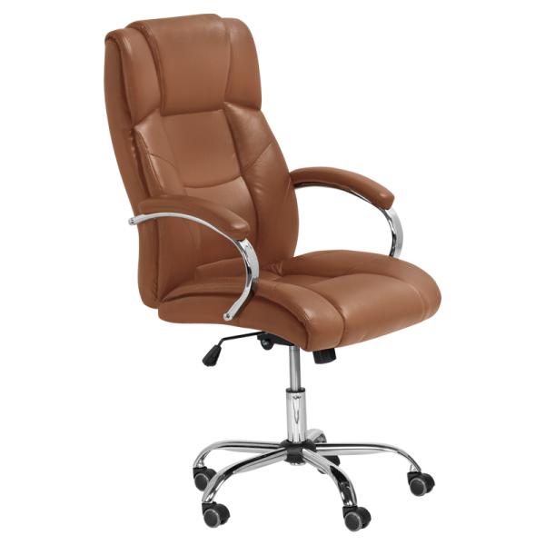 Директорски стол - 6506 светло кафяв
