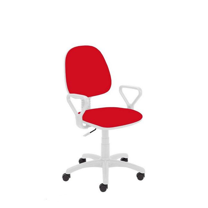 Работен стол - Regal White червен
