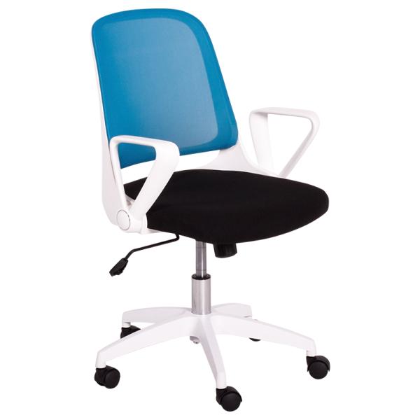 Работен стол - 7033 синьо черен