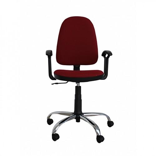 Работен стол Prestige Steel - бордо