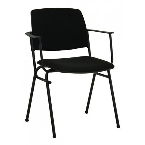 Посетителски стол Isit Arm Black ECO - черен