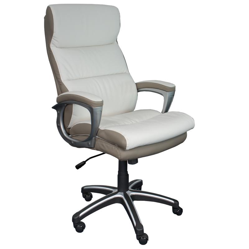 Директорски стол 5006 -  бял / бежов