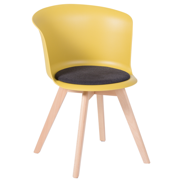 Трапезен стол-9968 жълт