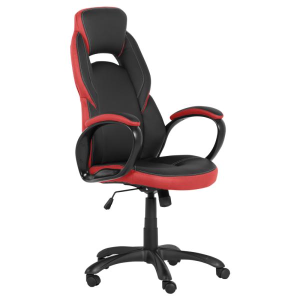 Директорски стол - 7511 черен/червен