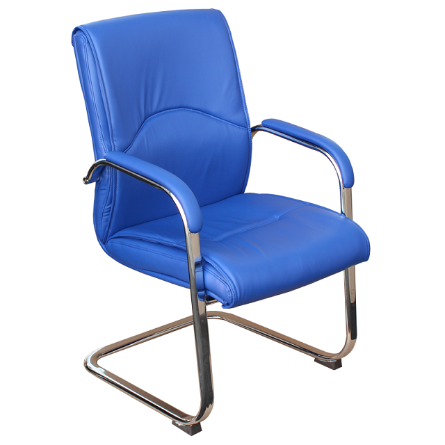 Посетителски стол - 6040 син