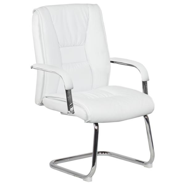 Посетителски стол - 6540 бял