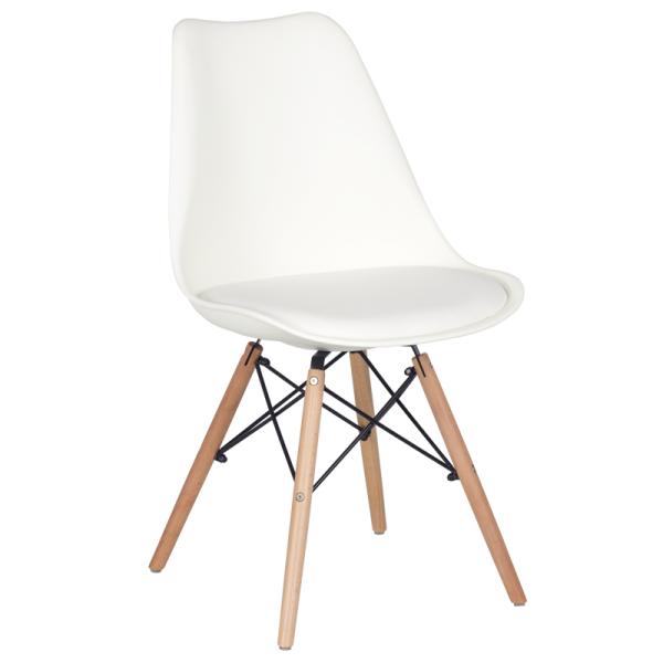 Трапезен стол-9960 бял