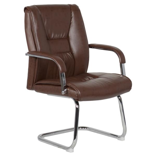 Посетителски стол - 6540 искрящо кафяв