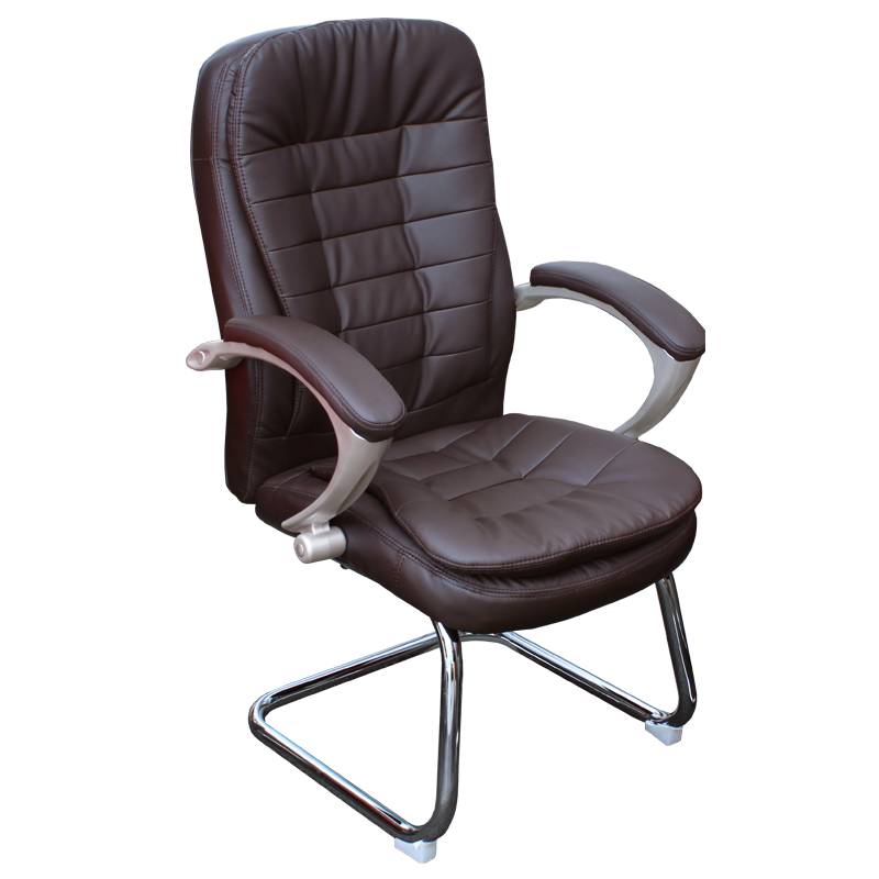 Посетителски стол - 6054 тъмно кафяв
